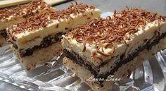 Prajitura cu nuca de cocos, ciocolata si nes | Retete culinare cu Laura Sava - Cele mai bune retete pentru intreaga familie