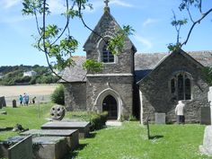 St. Michael's, Porthilly,Rock, Cornwall. My Uncle George is buried here, it's the most beautiful place for a church.