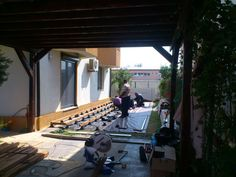 Deck on PVC adjustable pedestals