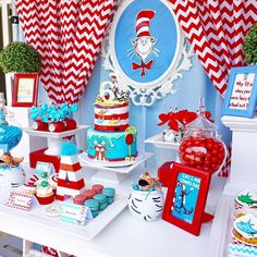 Sweet table from a Dr. Seuss Birthday Party on Kara's Party Ideas | KarasPartyIdeas.com (6)