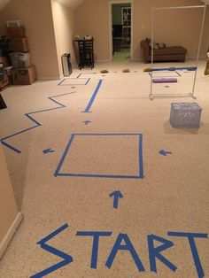 One of the biggest complaints from parents about inclement weather is all that pent up energy. Grab some electrical tape and get the wiggles out by setting up an indoor obstacle course.Found on Pinterest here.