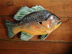 Sunfish 12  fish wall mount home decor indoor by oceanarts10