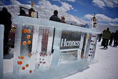 Hennessy ice bar, served chilled at the Mountain Top Picnic during Taste of Vail.