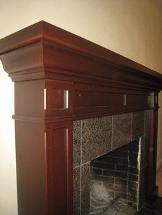 Cherry Fireplace Mantel