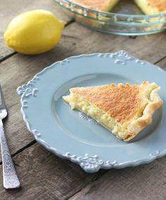 Lemon Sponge Pie - FoodBabbles.com