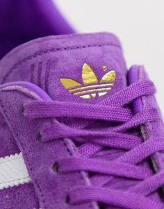 outlet store b6ec2 a3d18 adidas Originals – TFL Gazelle – Lila och vita sneakers