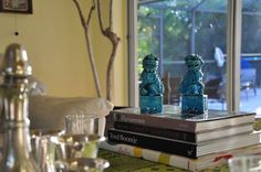 Turquoise Foo Dogs, Set of 2