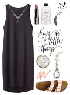 """""""Untitled #1825"""" by katerina-rampota ❤ liked on Polyvore featuring BLACK CRANE, Edward Bess, philosophy, Nambé, Birkenstock, 1928 and summersandals"""
