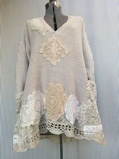 Upcycled Clothing Shabby Chic Thick Cotton by SimplyCathrineAnn