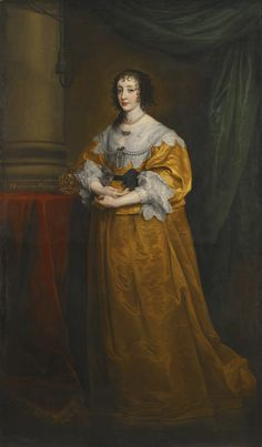 Page of Queen Henrietta Maria by DYCK, Sir Anthony van in the Web Gallery of Art, a searchable image collection and database of European painting, sculpture and architecture Anthony Van Dyck, Sir Anthony, Roi Charles, King Charles, Henrietta Maria, Renaissance, House Of Stuart, 17th Century Fashion, 18th Century