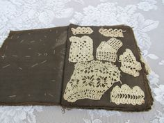 Antique Lace Sample book Crocheted Lace by OliviaRoseVintageCo