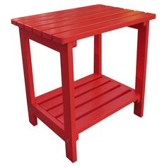 Red indoor/outdoor side table. Made from yellow cedar.Product: Side tableConstruction Material: High quality yell...