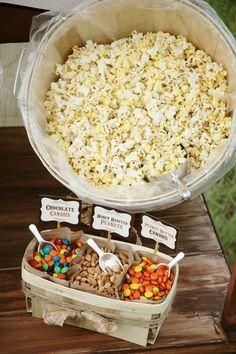 Pen N' Paper Flowers: STYLING | Rustic Popcorn Bar