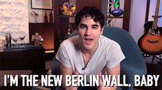 Darren Criss announces Hedwig. #DarrenIsHedwig. The wink, STOP IT!