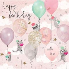 Birthday Quotes : Happy Birthday with love… Birthday Greetings For Facebook, Happy Birthday Wishes Cards, Happy Birthday Girls, Happy Birthday Images, Happy Birthday With Love, Birthday Girl Meme, Birthday Girl Pictures, Best Birthday Quotes, Birthday Ideas