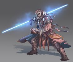Star Wars Wookie Jedi