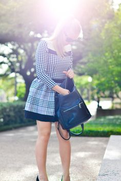 Love this patterned dress with the leather backpack! #ootd #fashion #blogger