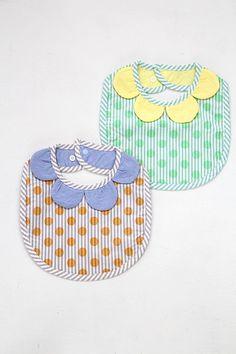 【盛夏】ストライプドットプリント フラワースタイ - 100% picnic.Baby!