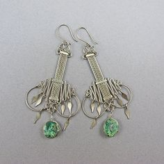 Vintage Earrings Silver And Turquoise Beads by Goodoldbeads, £12.50