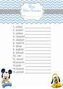 Free Printable Baby Shower Scramble Word Answers   Baby Shower Ideas