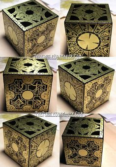 Hellraiser Puzzle Box, All Black by The Puzzlebox Maker on Etsy, $160.00