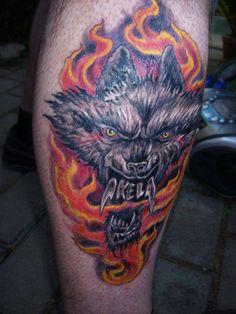 Akela(zenekar) logo tetoválás