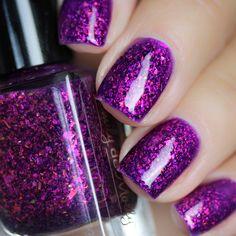 Henna Designs, Nail Designs, Purple Nail Polish, Purple Nails, Gorgeous Nails, Pretty Nails, Acrylic Nails, Coffin Nails, Polka Dots