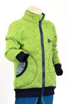 svetrová mikina pro kluky ušitá ze zeleného fleecové svetroviny, zelené lemy, úplet dinosauři, vel. 98-140 | Baja Design