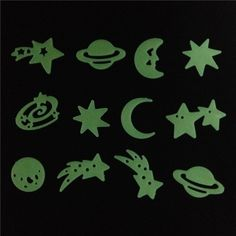 US $0.88 -- AliExpress.com Product - New Arrival Shooting Stars Planet Glow In The Dark Fluorescent PVC Wall Stickers Home Decals