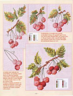 Cross Stitch Fruit, Cross Stitch Boards, Cross Stitch Kitchen, Mini Cross Stitch, Cross Stitch Flowers, Cross Stitching, Cross Stitch Embroidery, Cross Stitch Patterns, Diy Broderie