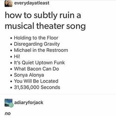 HOLD FOR JESUS Musical Theatre Pinterest Broadway Musical - Michael in the bathroom lyrics