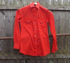 Size XS Small Vintage Retro 1970s Women's Red by alicksandraflin