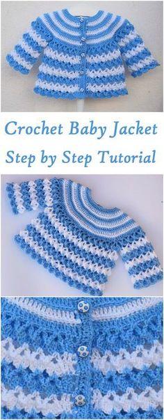 Baby Jacket Crochet Jearsy