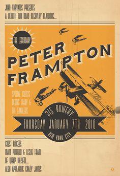 "Poster Design 24 X 35  ""Peter Frampton"" for John Varvatos  © Scarlet Rowe Image & Design"