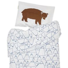 Love the cool Bruno and Mountains bedding by FineLittleDay