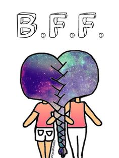 BFF-Zopf♡👭👯👱👱👄💋❤💓💕💖💗💘💝💞💟👏👏 # Braids how to people Best Friend Drawings, Bff Drawings, Cute Easy Drawings, Cute Kawaii Drawings, Cute Drawings Of Girls, Bff Pics, Friend Pictures, Cute Girl Drawing, Chibi Girl