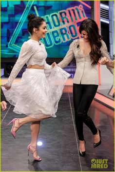 Vanessa and Selena on El Hormiguero, which aired on Thursday (February 28 2013 - vanessa-hudgens Photo