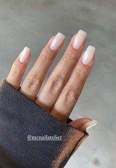 Cute Acrylic Nails, Cute Nails, Pretty Nails, Neutral Nail Color, Gel Nail Colors, Manicures, Gel Nails, Funky Nails, Bridal Nails