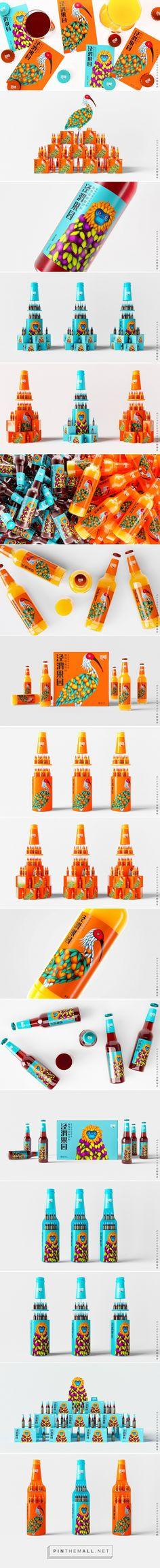 JingWei Orchard juice packaging design by Xian Gao Peng - http://www.packagingoftheworld.com/2018/01/jingwei-orchard.html - created via https://pinthemall.net