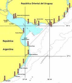 Faros de la provincia de Buenos Aires y Uruguay