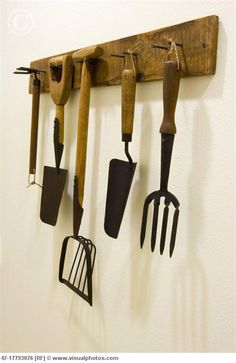 4 Luminous Clever Ideas: Small Garden Tool Shed garden tool shed outdoor storage.Garden Tool Crafts Fun garden tool organizer to get. Tool Shed Organizing, Garden Tool Organization, Garden Tool Storage, Garage Organization, Organization Ideas, Old Garden Tools, Farm Tools, Old Tools, Gardening Tools