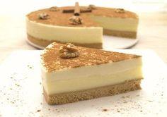 Tarta de queso y crema pastelera a la canela - MisThermorecetas.com Thermomix Desserts, Köstliche Desserts, Delicious Desserts, Dessert Recipes, Candy Recipes, Brownie Recipes, Sweet Recipes, Cake Cookies, Cupcake Cakes