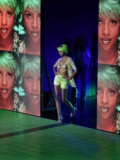 Jessica White during a Lil' Kim fashion tribute