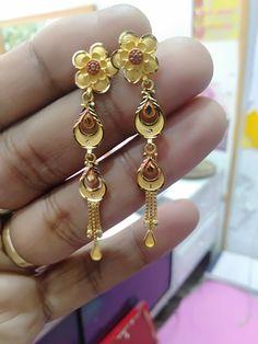 Gold Chain Design, Gold Ring Designs, Gold Bangles Design, Gold Earrings Designs, Gold Jewellery Design, Ear Jewelry, Gold Jewelry, Gold Buttalu, Jewelers Workbench