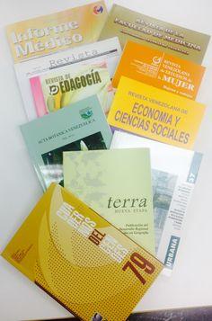Algunas de las Revistas que podrás consultar en el Repositorio Institucional de la Universidad Central de Venezuela, Saber UCV  http://saber.ucv.ve/ojs/