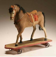 Antique Steiff Horse Pull Toy