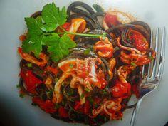 un mondo di ricette: spaghetti al nero di seppia