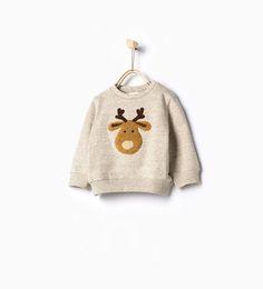 Image 1 of Reindeer sweatshirt from Zara