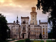 Hluboka nad Vltavou is a romantic castle rebuilt into English Thudors gothic during 1841-1871-Czedh Republic