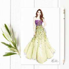 "559 aprecieri, 31 comentarii - Dipti Patel (@dipti.illustration) pe Instagram: ""Happy Saturday y'all 💚🌼 #fashionillustration #artoftheday #sunnysaturdays"""